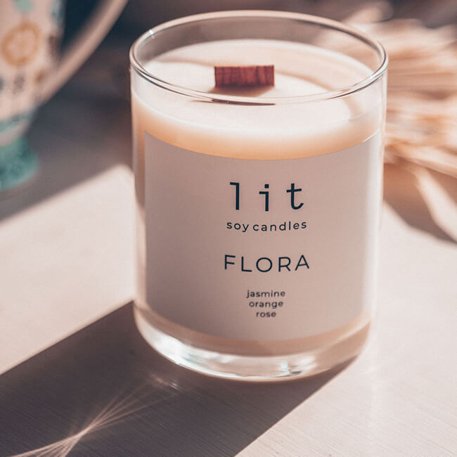 Lit Soy Candles