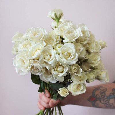 White Roses Spray Flower Delivery Vancouver