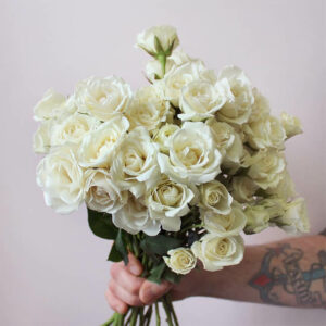 White Roses Standard Flower Delivery