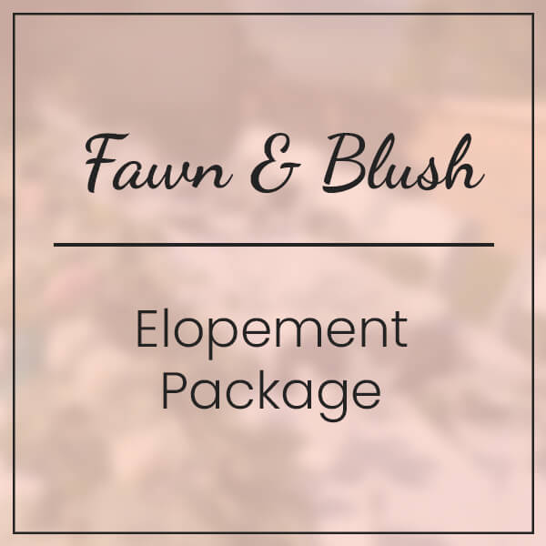 Fawn & Blush Elopement Package