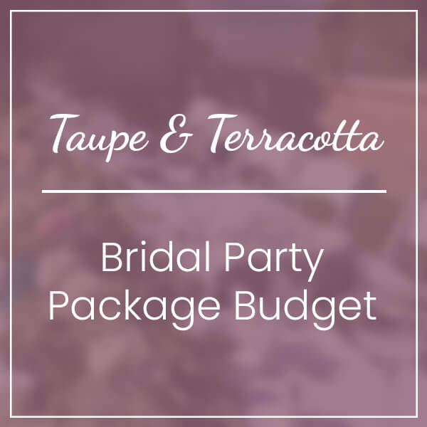 Taupe & Terracotta Bridal Party Package Budget