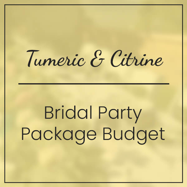 Tumeric & Citrine Bridal Party Package Budget